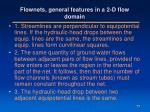 flownets general features in a 2 d flow domain