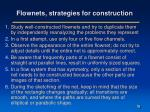 flownets strategies for construction