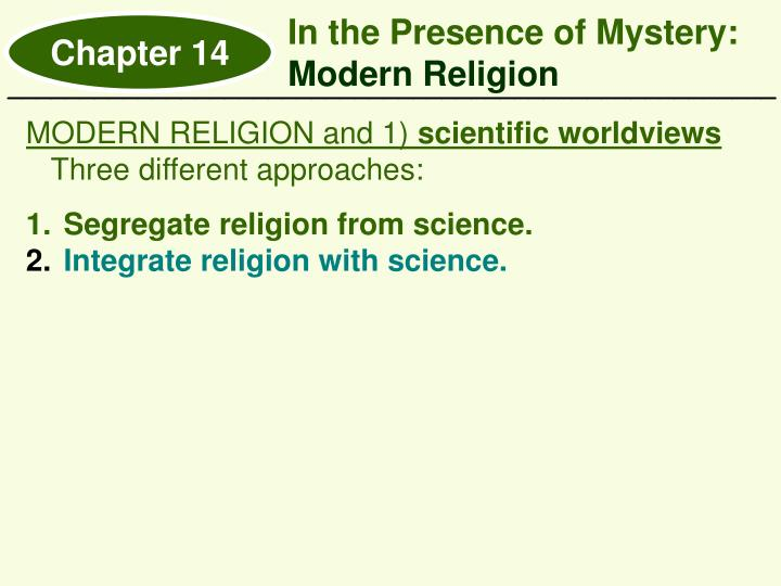 In the Presence of Mystery: