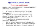 application to specific issues56