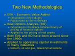 two new methodologies