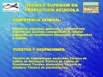 tecnico superior en produccion acuicola