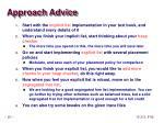 approach advice