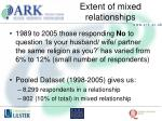 extent of mixed relationships