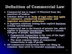 definition of commercial law