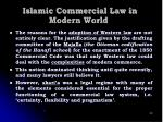 islamic commercial law in modern world