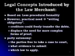 legal concepts introduced by the law merchant