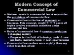 modern concept of commercial law