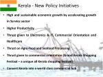 kerala new policy initiatives