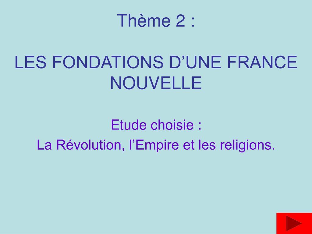 th me 2 les fondations d une france nouvelle l.