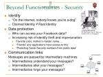 beyond functionalities security