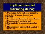 implicaciones del marketing de hoy