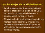 las paradojas de la globalizaci n
