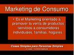 marketing de consumo