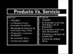 producto vs servicio