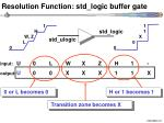 resolution function std logic buffer gate