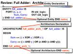 review full adder architecture