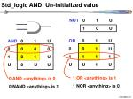 std logic and un initialized value