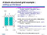 a block structured grid example setting up the grid