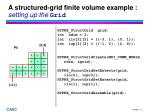 a structured grid finite volume example setting up the grid