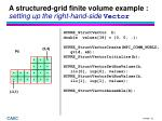 a structured grid finite volume example setting up the right hand side vector