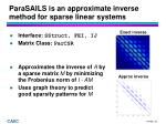 parasails is an approximate inverse method for sparse linear systems