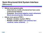 semi structured grid system interface sstruct