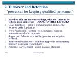 2 turnover and retention processes for keeping qualified personnel9