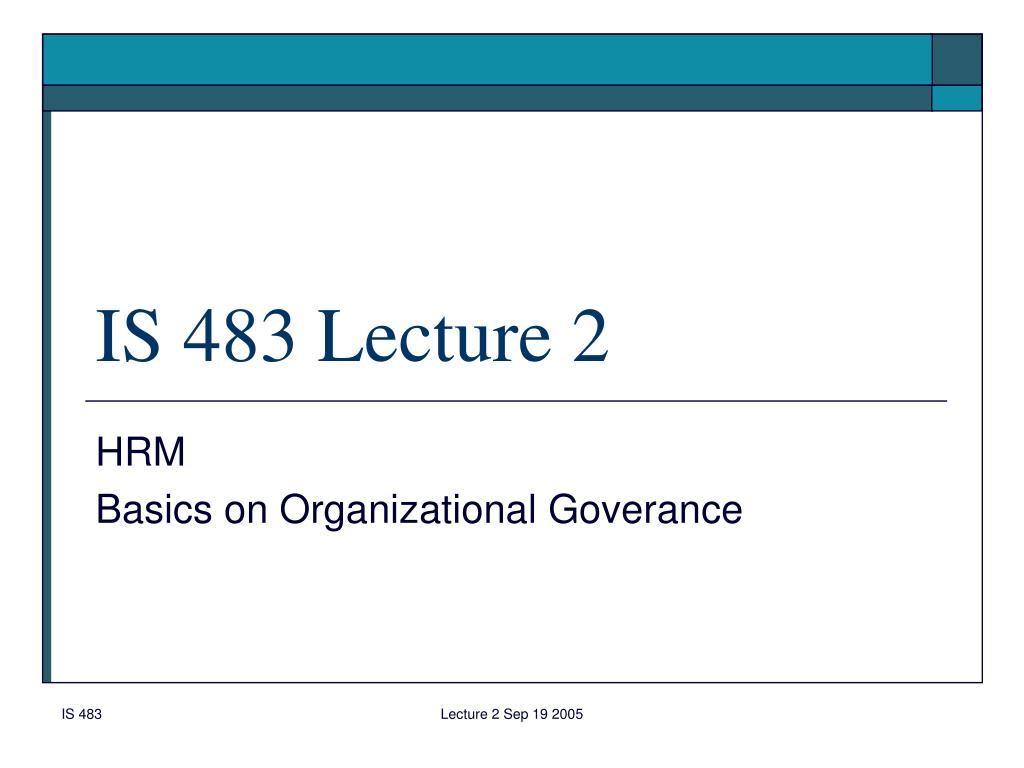 is 483 lecture 2 l.