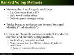 ranked voting methods