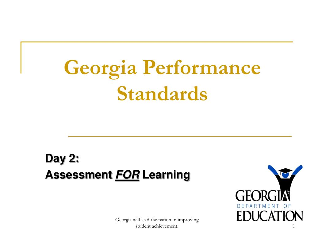 georgia performance standards l.