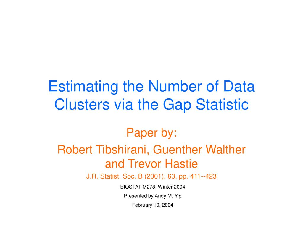 estimating the number of data clusters via the gap statistic l.