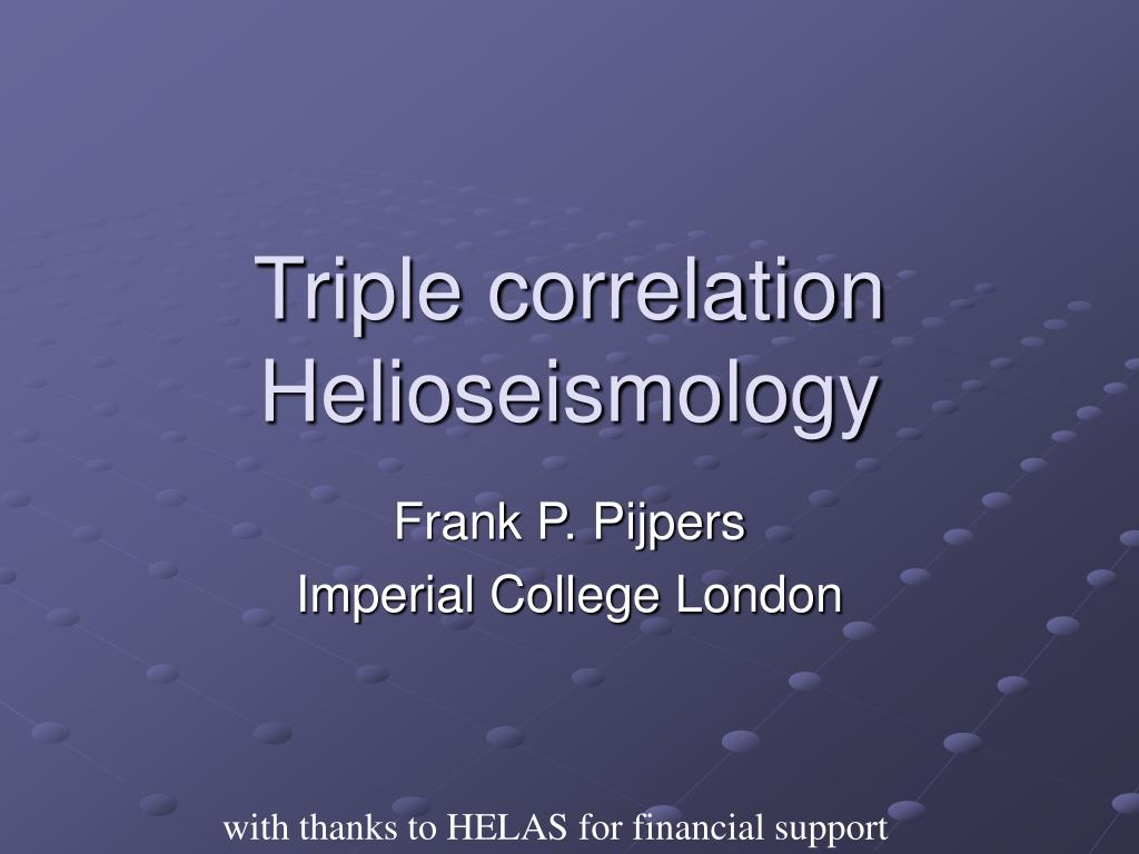 triple correlation helioseismology l.