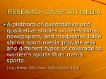 research on sport media