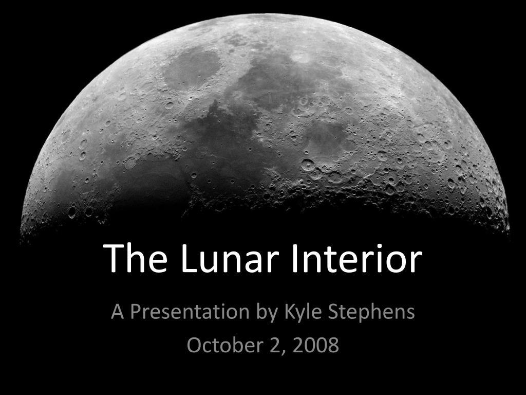 the lunar interior l.
