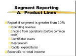 segment reporting a product lines