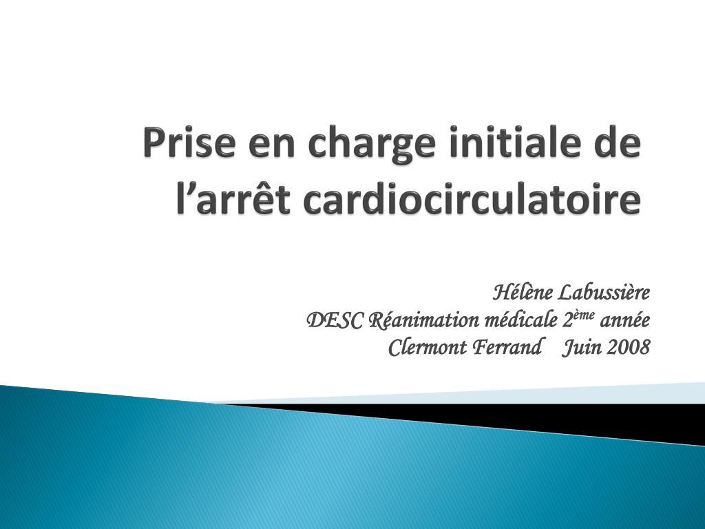 prise en charge initiale de l arr t cardiocirculatoire l.