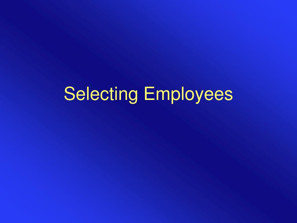 selecting employees l.