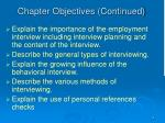 chapter objectives continued4