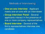 methods of interviewing