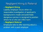 negligent hiring referral