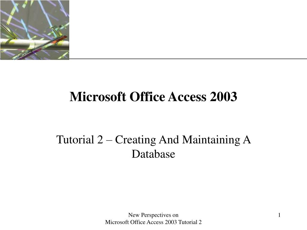 microsoft office access 2003 l.