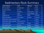 sedimentary rock summary