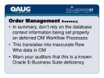 order management summary