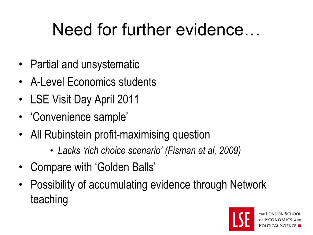 PPT - Does Studying Economics Make You Selfish, Dishonest or
