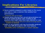 implications for libraries