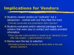 implications for vendors