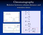 chromatography relation between column distance and retention times18