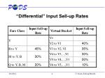 differential input sell up rates