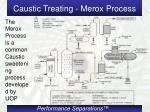 caustic treating merox process